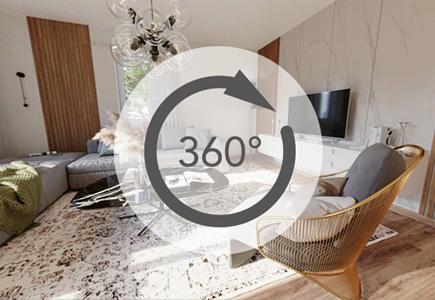 Innenansichten Einblicke in einem virtuellen Musterhaus, Doppelhaus