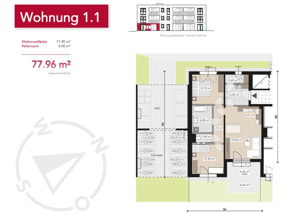 Wohnung 1.1