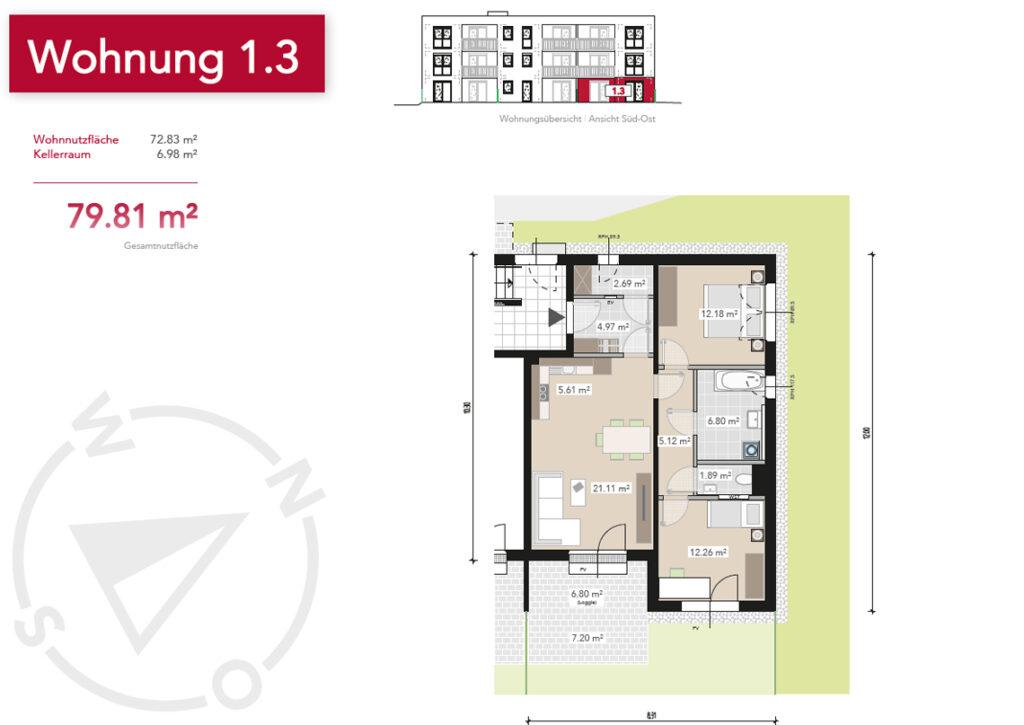 Wohnung 1.3