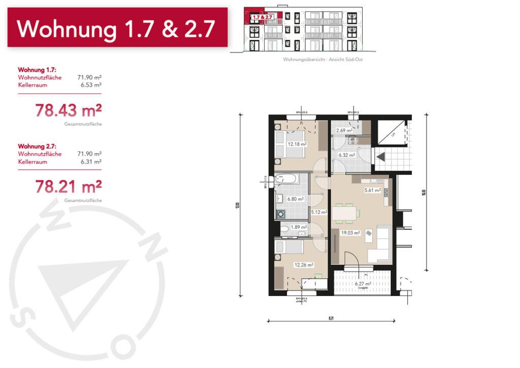 Wohnung 1.7