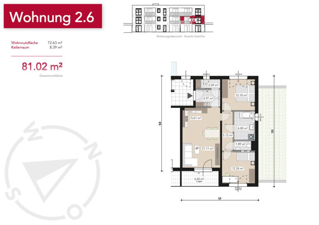 Wohnung 2.6