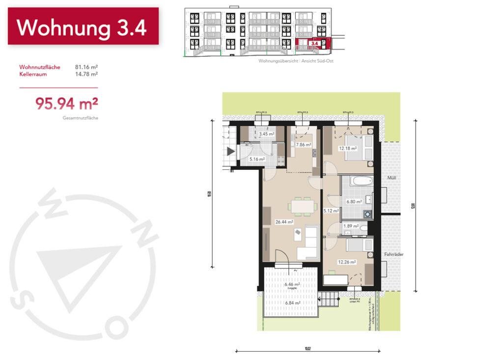 Wohnung 3.4