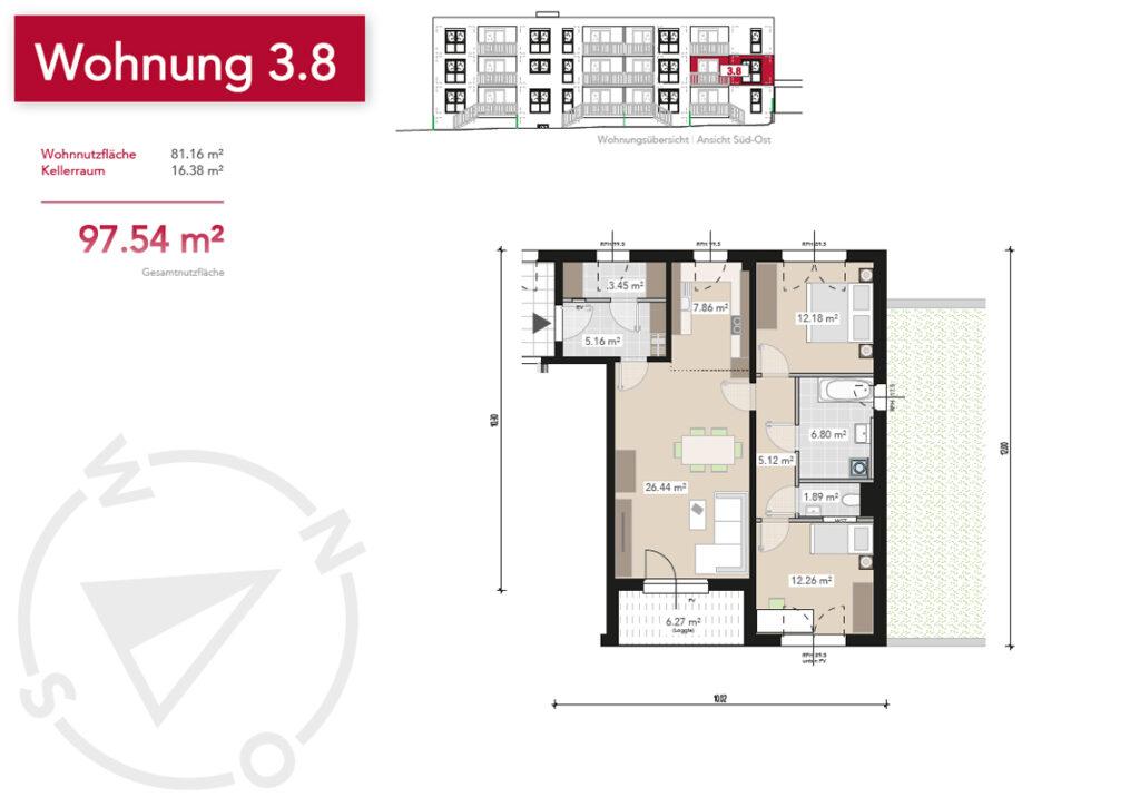 Wohnung 3.8